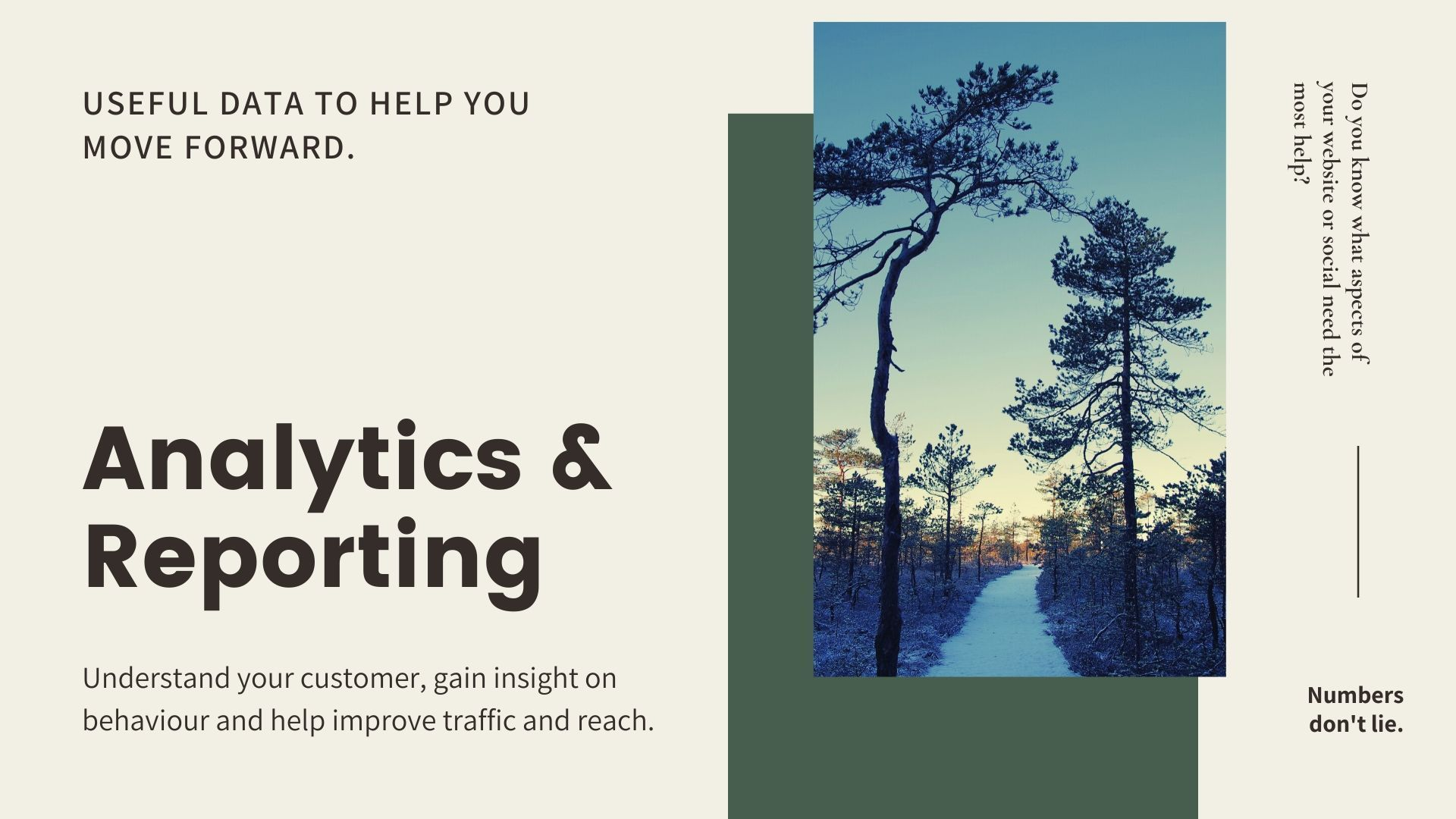 Analytics Slider